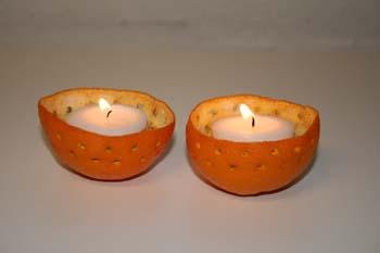 De færdige appelsin lys