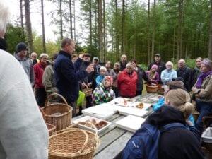 Naturvejleder Lars underviser om svampe