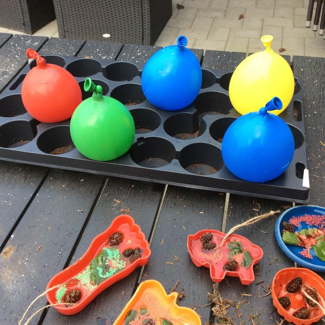 Fremstilling af islys med ballonner