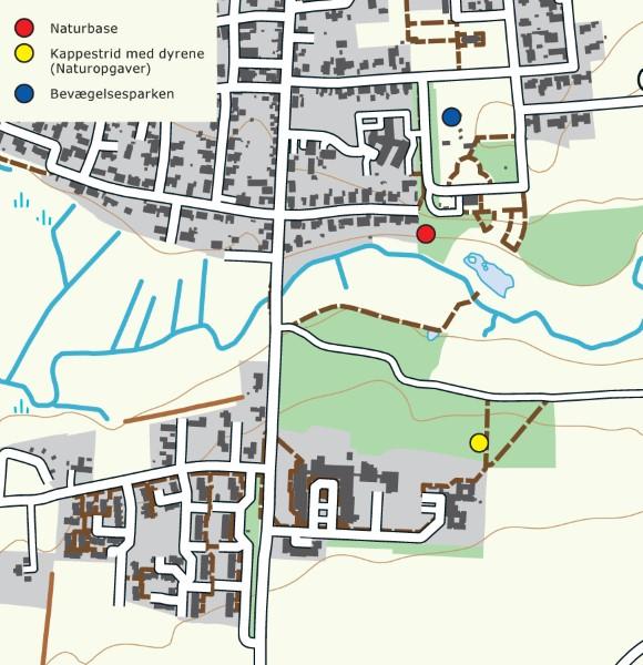 Kort fra naturbasen i Aalestrup