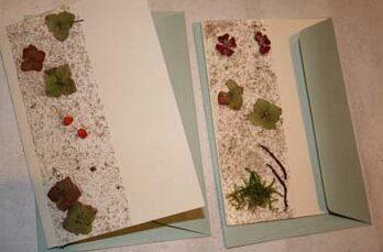 Postkort lavet med strandting