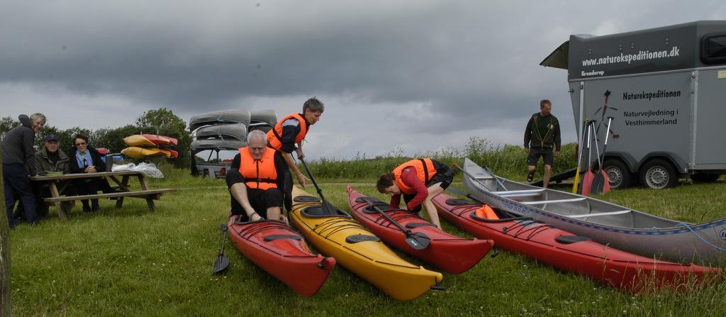Kanotur på sø,å, og fjord