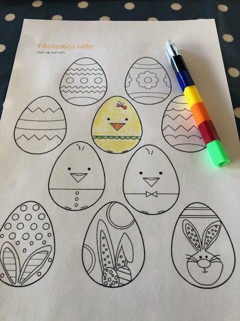 Tegninger af påskeæg