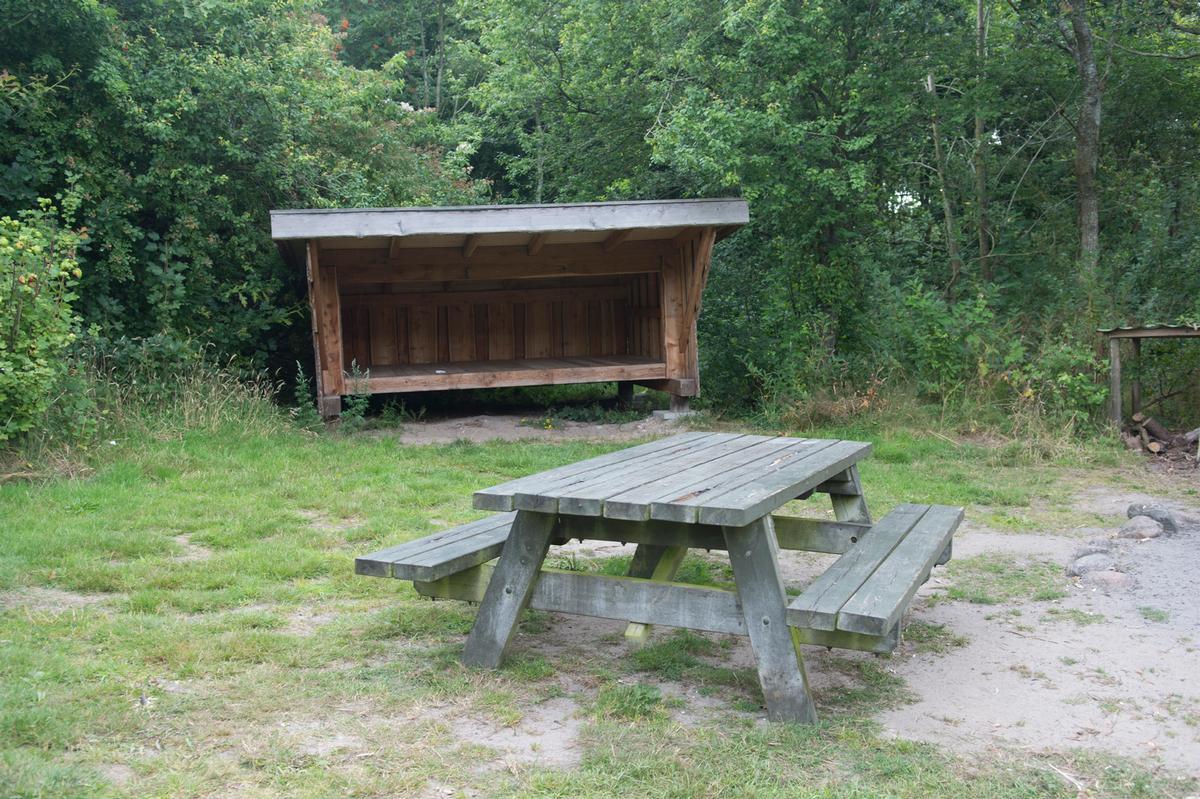 Shelter ved naturbasen på Louns