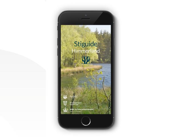 Stiguide Himmerland på en smartphone